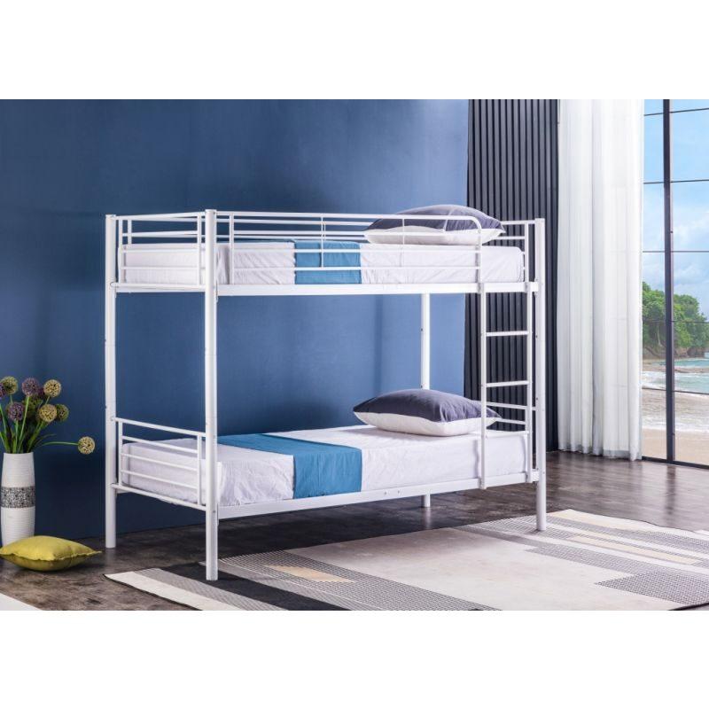 BND006 Łóżko piętrowe (biały)