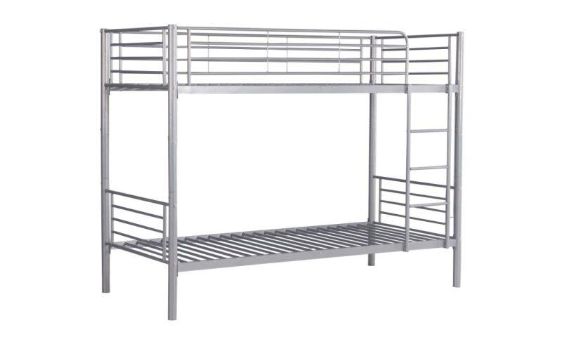 BND006 Łóżko piętrowe (srebrny)
