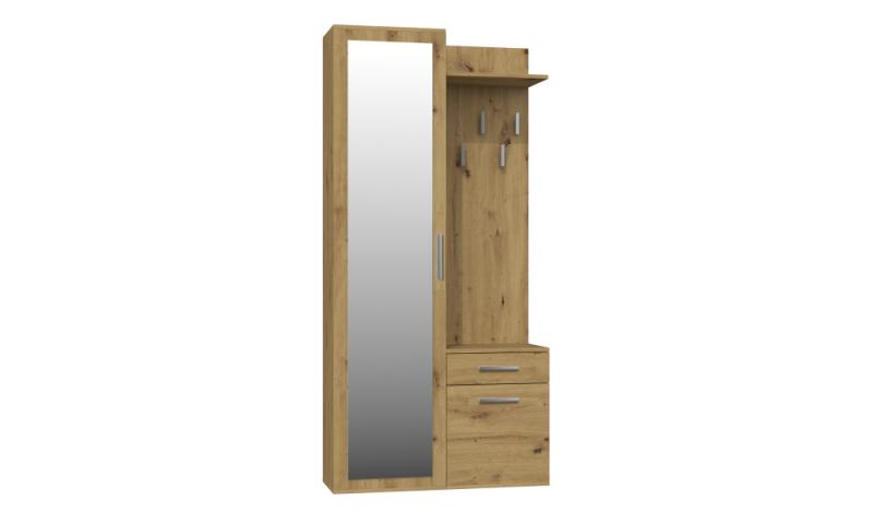 Garderoba 4 Garderoba (dąb artisan) z lustrem