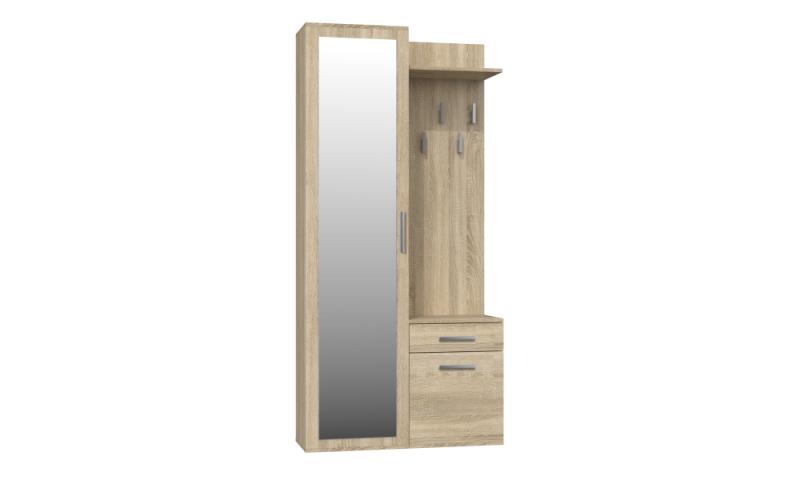 Garderoba 4 Garderoba (sonoma) z lustrem