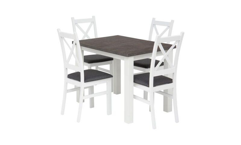 MONTE CARLO Zestaw stół (beton:biały)